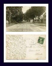 MICHIGAN BURR OAK REAL PHOTO 3RD ST SOUTH 1912 TO W.A. CROOKS, MUNCIE, INDIANA