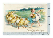 Clapsaddle Easter Postcard | Chick Parade | IAP Embossed