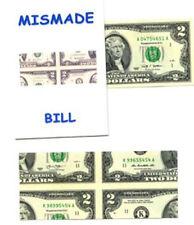 Magic Trick Mismade Bill - $2.00 Bill