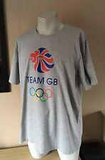 Grey Team GB Cotton T-Shirt Top Olympics Size XXL
