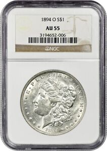 1894-O $1 NGC AU55 - Better Date from New Orleans - Morgan Silver Dollar