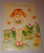 Vintage Gibson Granddaughter Easter Play Paper Doll Card