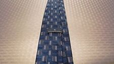 Ermenegildo Zegna, Blue Pattern Tie, Made in Italy, 100% Silk (Lot of 1) - MINT