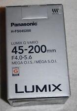Panasonic LUMIX G VARIO 45-200mm/F4.0-5.6/MEGA O.I.S. H-FS045200 Lens NEW