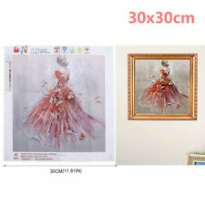 Beauty Girl in Red Dress 5D Diamond Painting Embroidery Cross Stitch Kit Gifts