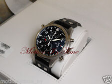 IWC Pilots Double Chronograph 46mm Day-Date Stainless Steel RARE IW377801