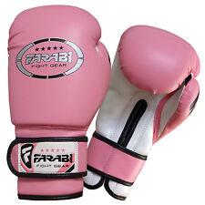 Junior kids 6-oz Pink Boxing Gloves Sparring , training bag mitt gloves Sh