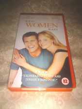 RARE Orange What Women Want Mel Gibson Helen Hunt PAL VHS Video L@@K