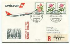 FFC 1983 Swissair First Flight B 747 300 Zurich Chicago REGISTERED Flughafen