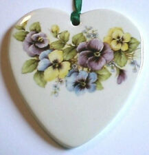 MULTI-COLOR PANSIES SWAG HEART BASKET TIE ON-NEW-SHOP STORE for MORE SELECTIONS