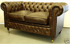 Chesterfield leather suite chair sofa SALE B/NEW 3