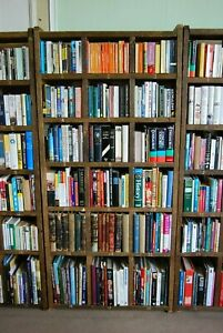 BOOKCASE varied shelf height x1 home office library reclaimed wood booklovers