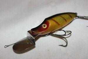 "Vtg HEDDON GO DEEPER RIVER RUNT Fishing Lure 2 1/2"" Perch"