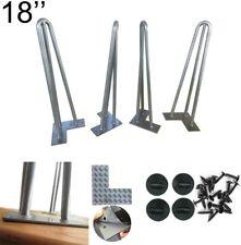 Silver Steel Hairpin Legs 60cm High - NEW