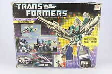 Transformers G1 Sixshot Fantastic Condition Boxed Original Takara (Box Poor)