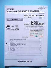 Manuel de reparation pour Sharp DV-740 ,ORIGINAL