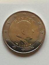 2 Euro Kursmünze Monaco 2009, Fürst Albert II, rar, unc. bfr.