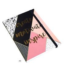 A5 Bullet Journal Create Motivate Inspire Sketch Art Dots Notebook Organiser New