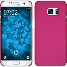 Hardcase Samsung Galaxy S7 Edge rubberized hot pink Cover Case