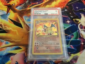 1999 Pokemon TCG Base Set 2 II Charizard Holo Rare Card 4/130  PSA 1 POOR PR