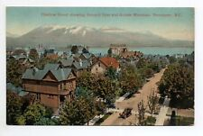 CANADA carte postale ancienne VANCOUVER thurlow street grouse mountain