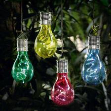 Impermeable Energía Solar Giratoria Jardín Exterior Colgante Luz LED Bombilla