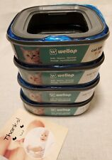 Wellap Cat Litter Disposal System Refills Compatible with Genie 4 Pack