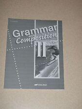 ABeka 8th Grade GRAMMAR & COMPOSITION II Test / Quiz Key Fourth Edition