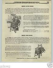 1919 PAPER AD Rev-O-Noc Power Electric Wood Wooden Washing Machine Horton Brand