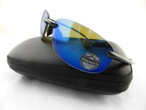 Serengeti Sunglasses NUVINO 8270 Shiny Black - Polarised PhD Blue Mirror Lens