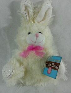 "Bunny Rabbit Plush Stuffed Animal White 7"" SMALL (Chocolate Scented)"