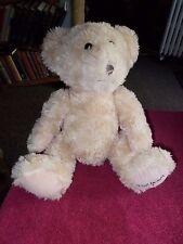"LARGE DAVID EMANUEL FLUFFY TEDDY BEAR 14"" SOFT STUFFED PLUSH TOY FREE UK P&P"