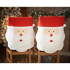 Pk 4 Santa Face Chair Covers Christmas Xmas Novelty Dinner Table Uk Er