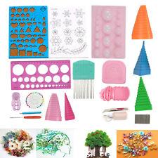 18Pcs Handmade Quilling Paper Kits Cork DIY Craft Workboard Slotted Tool