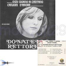 """DONATELLA RETTORE """"OGNI GIORNO SI CANTANO CANZONI D'AMORE"""" RARO CD - SIGILLATO"""