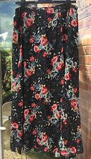 BNWT ZARA FLORAL BLACK & MULTICOLOURED WRAPOVER LONG SKIRT SIZE L SUMMER HOLIDAY