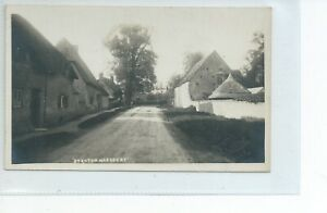 Real photo postcard the village of Stanton Harcourt Oxfordshire good condition
