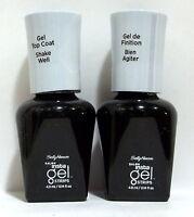 Lot of 2 Sally Hansen Gel Color Soak Off Nail Polish NWOB TOP COAT Clear (Step 3