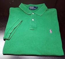 POLO by Ralph Lauren- Kelly Green Pique.Cotton, SS/2B Logo Polo Shirt- (L)