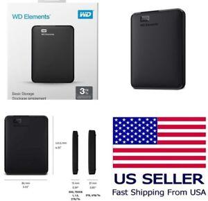 📀💻 NEW WD Elements 5TB 4TB 2TB 1TB Portable External Hard Drive USB 3.0 SEALED