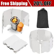 Foldable Mini 9 Plates Cooker BBQ Gas Stove Wind Shield Screen Picnic Camping 7C