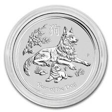 2018 Australian Lunar Series II Year Of The Dog 1/2 oz Silver BU Silver Coin