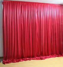 Claret Red Curtain Wedding Venue Decorations 19.6 ft X 9.8 ft