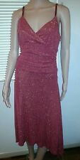 Ladies Christmas glittery Red Dress sz 10 by Rockmans