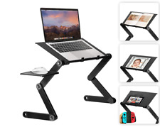 Folding Adjustable Laptop Table Computer Desk Stand Bed Sofa w/ Mouse Pad