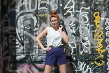 Fashion Affairs Damen Bluse Shirt Top 90er hellblau Gr. 38 40 TRUE VINTAGE 90s