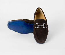 New SUTOR MANTELLASSI Brown Suede Leather Horsebit Loafers Shoes Size 7 US $800