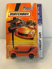 New 2007 Orange Matchbox MBX Metal #40 Chevy Van
