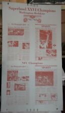Washington REDSKINS 1992 Super Bowl Champs WASHINGTON POST PRINTING PLATE 4 in 1