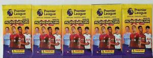 5 x 2020 2021 PANINI Adrenalyn Premier League Sealed Packs 30 Soccer Cards